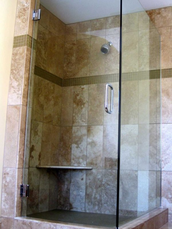 Glass Shower w/Support Rod