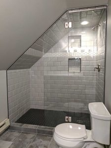 Shower Shield for Angled Ceiling