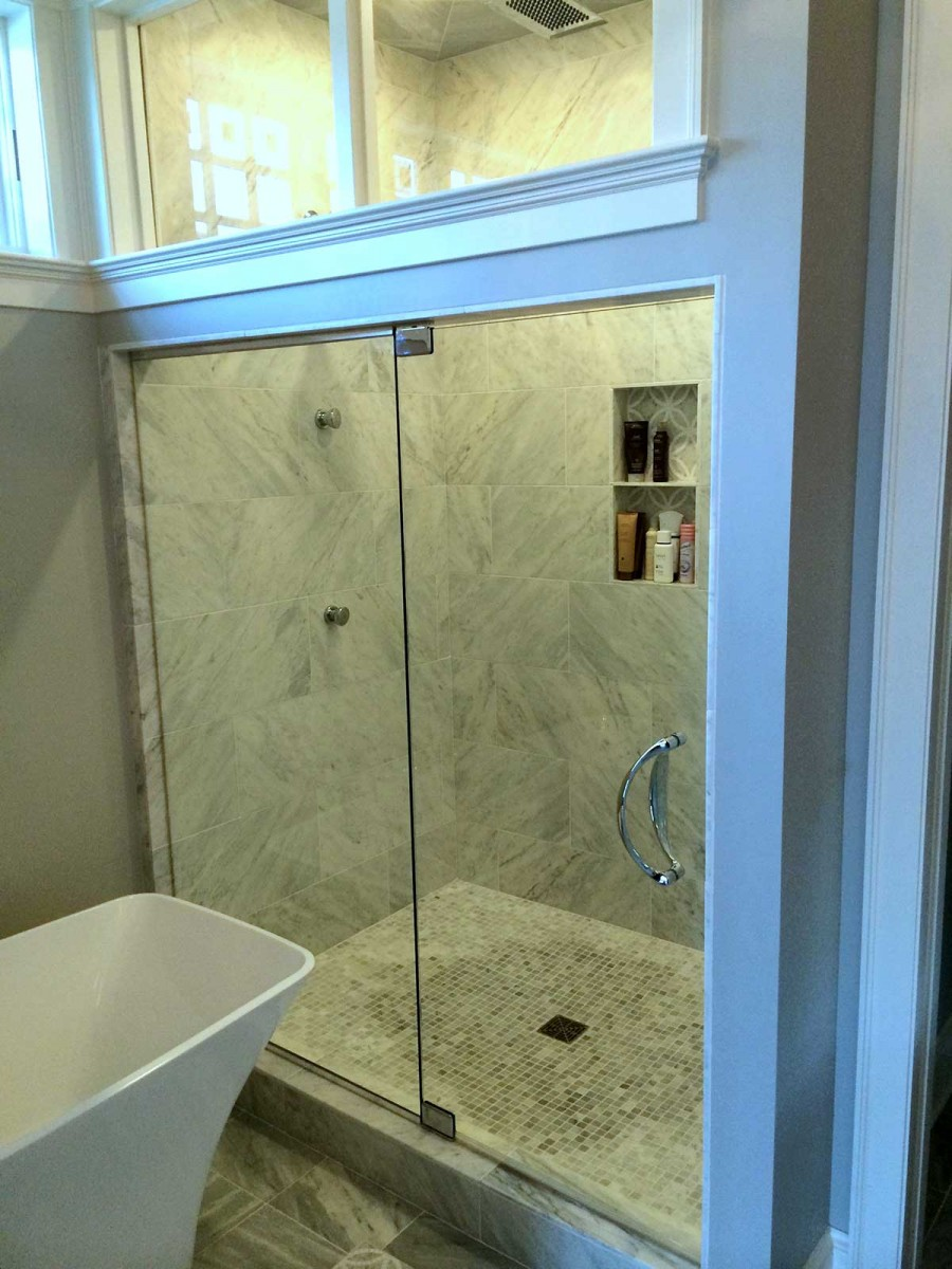 Steam Shower Wpivot Hinges American Mirror Glass