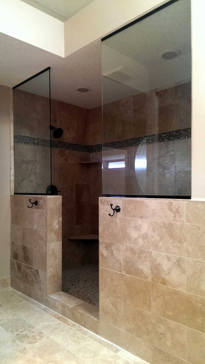 Open Shower American Glass Amp Mirror