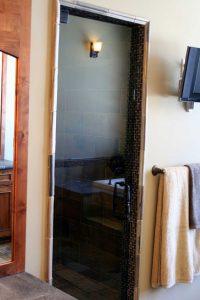 No Metal Shower Door
