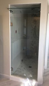 Steam Shower Door w/Transform Glass