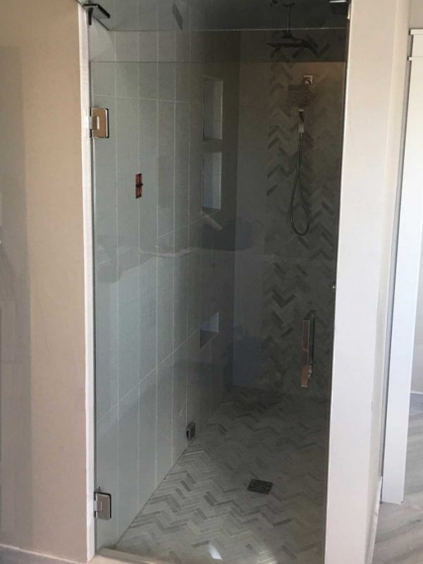 Steam Shower Door w/Transform Glass
