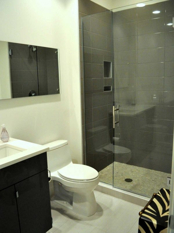 Frameless Shower w/Ladder Handle