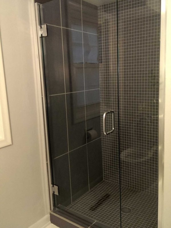 Frameless Shower without Backing