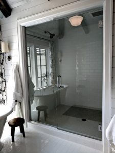 frameless-shower, designer-bathroom, steam-shower