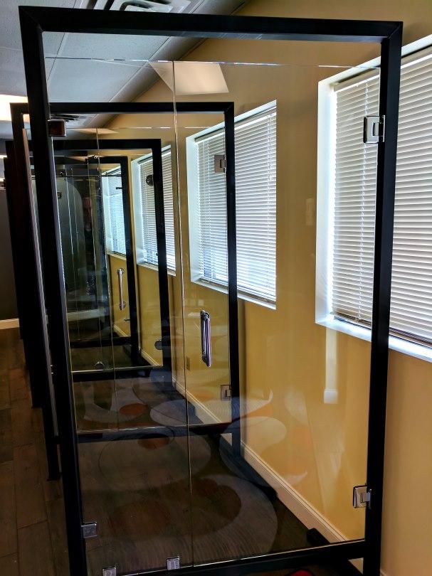 frameless shower, shower glass, glass clamps, custom glass shower